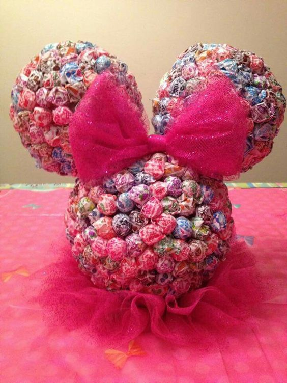 DIY Minnie Mouse lollipop head.