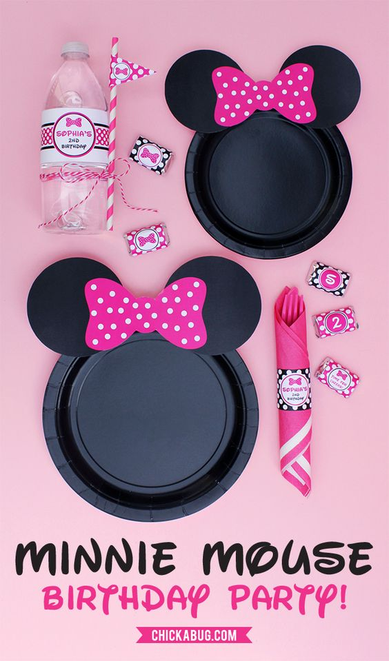 Minnie Mouse Party Ideas   Free Printable Ears