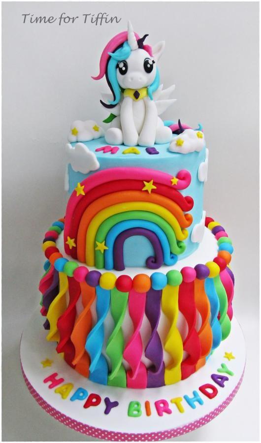 My Little Pony Rainbow Cake | My Little Pony Party Ideas