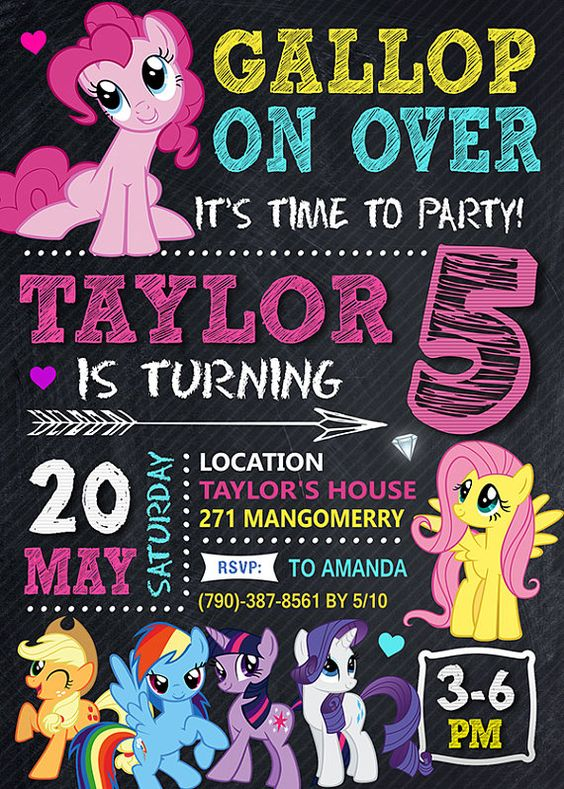 My Little Pony Party Invitation | My Little Pony Party Ideas