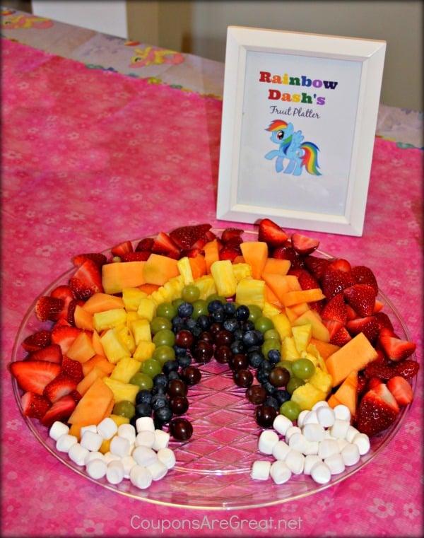 Rainbow Dash Fruit Platter | My Little Pony Party Ideas