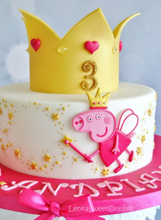 Princess Peppa Cake | Peppa Pig Party Ideas