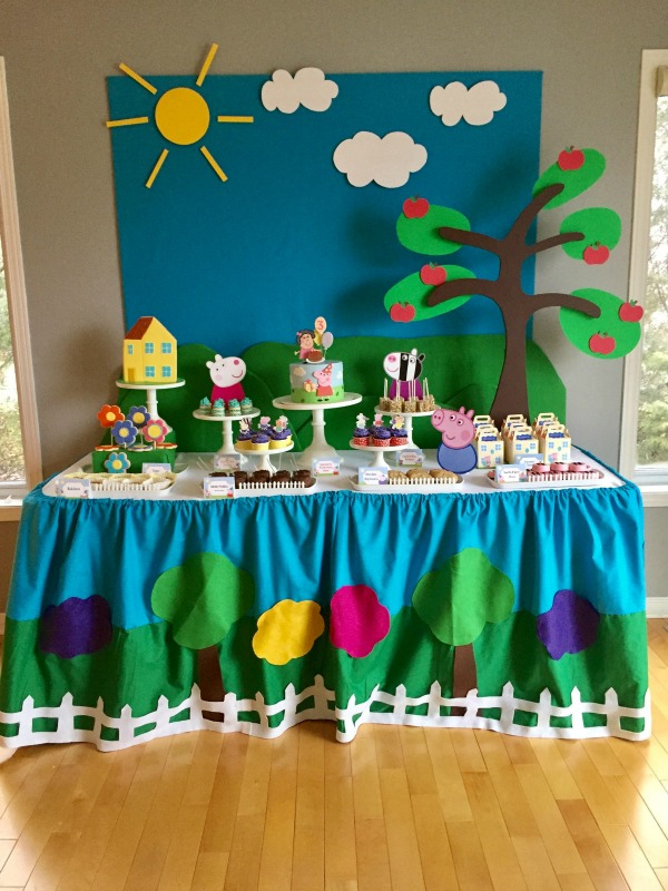 Peppa Pig Dessert Table | Peppa Pig Party Ideas