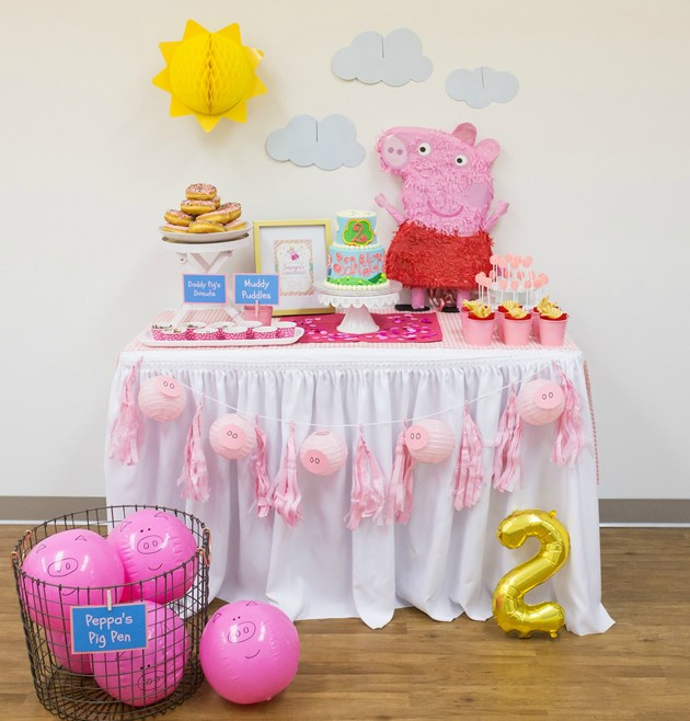 Peppa Pig Birthday Dessert Table
