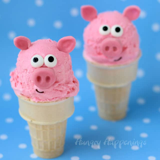 Peppa Pig Party Ideas | Pig Ice Cream Cones