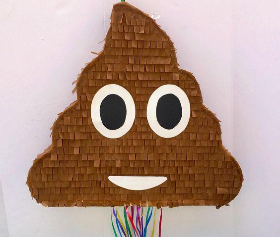 Poop Emoji Pinata | Emoji Birthday Party Ideas