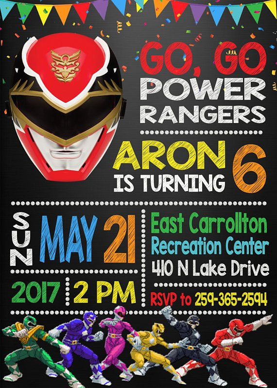 13 Power Rangers Party Ideas Pretty My Party – Power Rangers Party Invitations