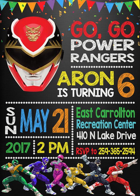 13 Power Rangers Party Ideas Pretty My Party – Power Rangers Birthday Invitations