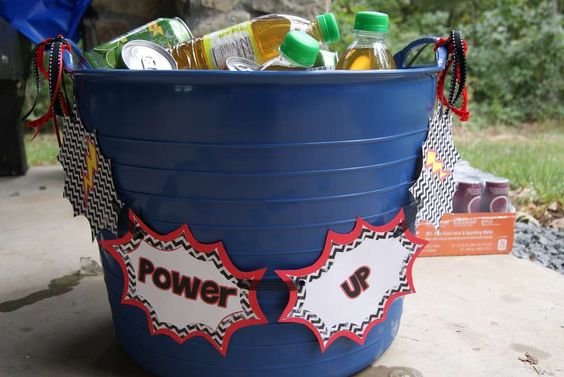 Power Up Drink Station | Power Rangers Party Ideas