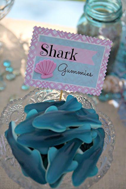 Shark Gummies for a Mermaid Birthday
