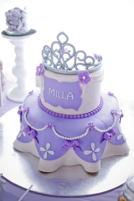 Pleasing 16 Sofia The First Birthday Party Ideas Pretty My Party Party Personalised Birthday Cards Paralily Jamesorg