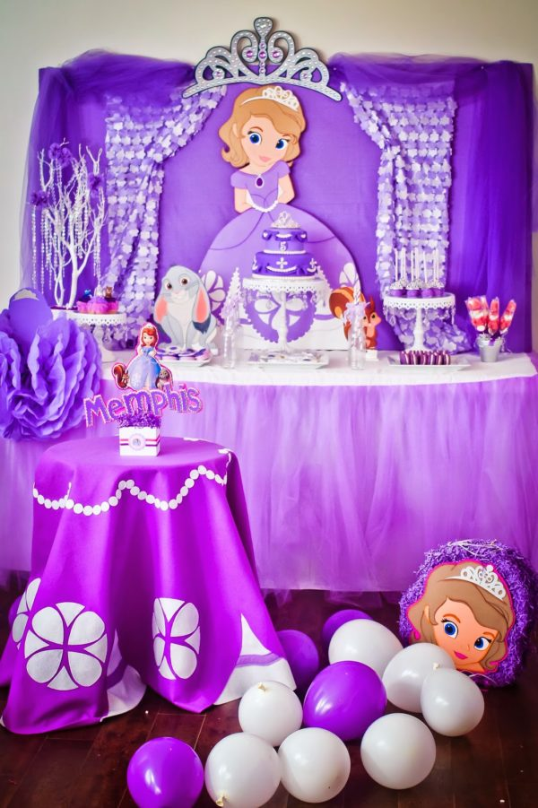 Sofia the First Dessert Table | Sofia the First Party Ideas