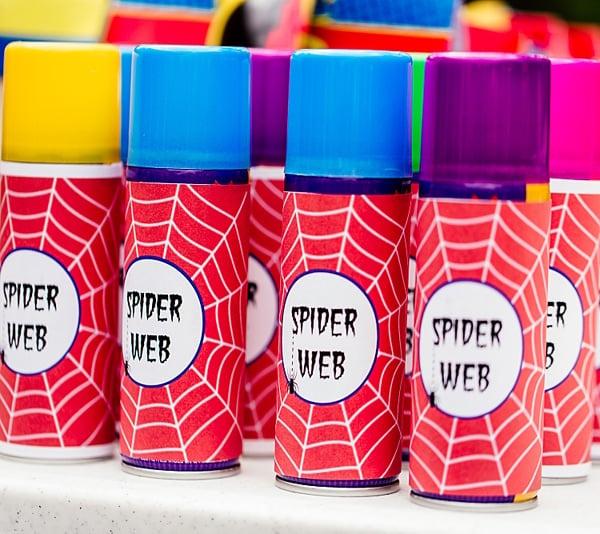 Spiderman Birthday Spider Web Spray Party Favors