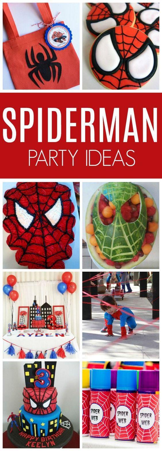 Spiderman Birthday Party Ideas - Pretty My Party
