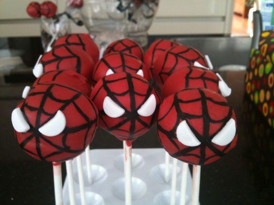Spiderman Birthday Cake Pops