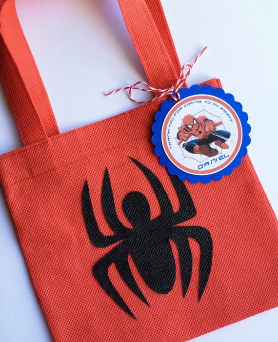 Spiderman Birthday Party Favor Bags