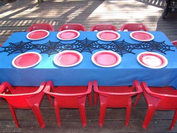 Spiderman Birthday Table Setting