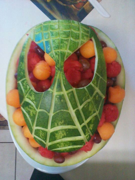Spiderman Birthday Watermelon Fruit Bowl