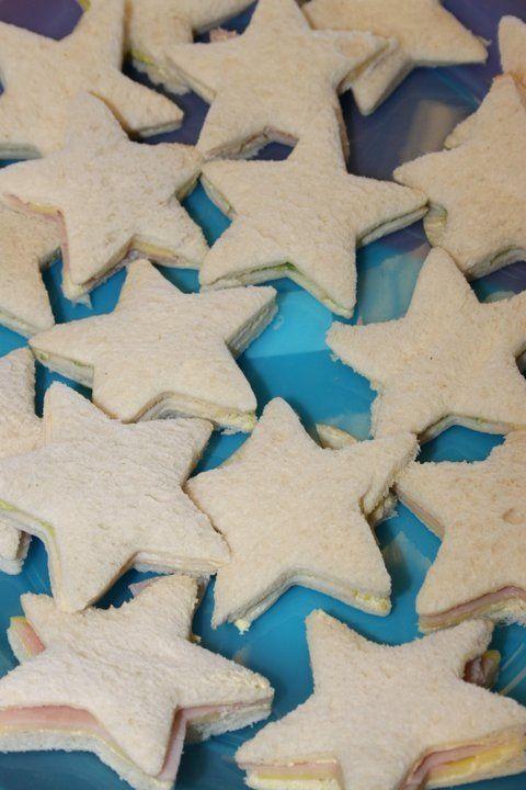 Starfish Sandwiches - Kids Mermaid Party Ideas