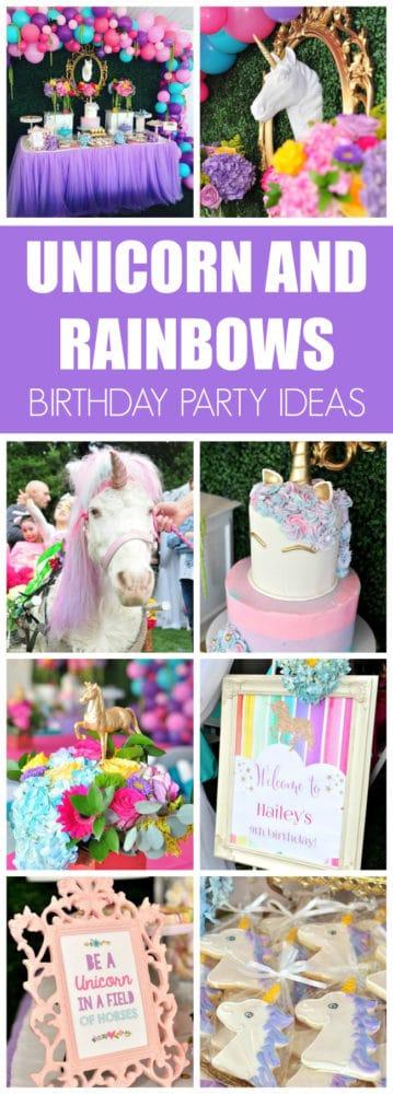 Unicorn and Rainbows Birthday Party
