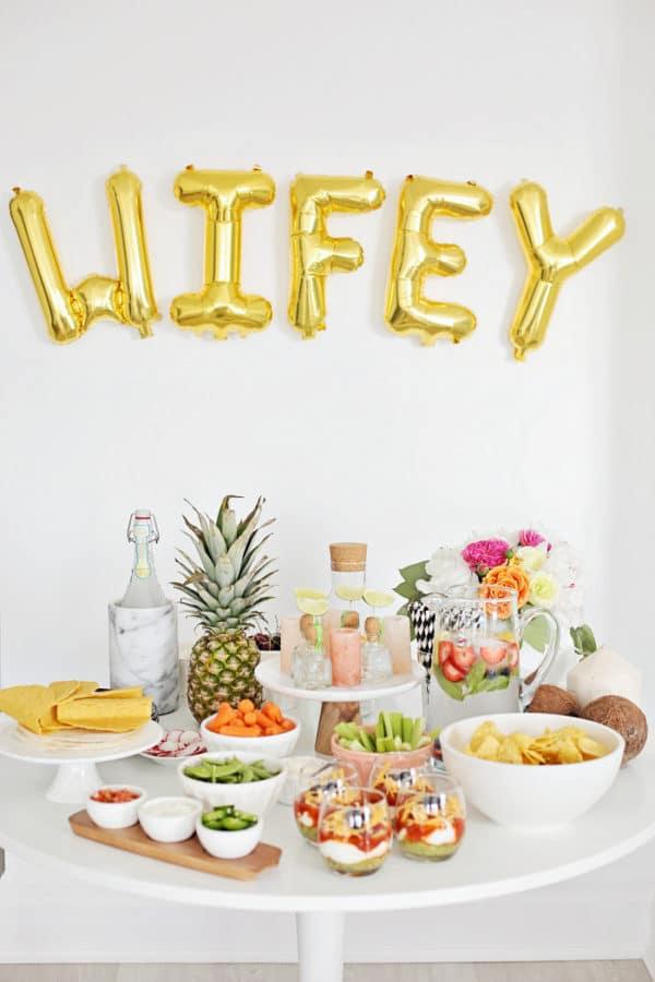 Bachelorette Party Food Table Idea - Bachelorette Party Ideas