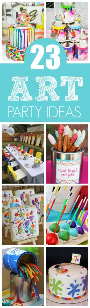 23 Creative Art Themed Party Ideas featured on Pretty My Party