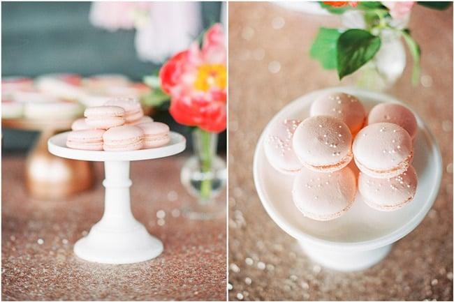 Pink Peony Inspired Baby Shower Macaroons
