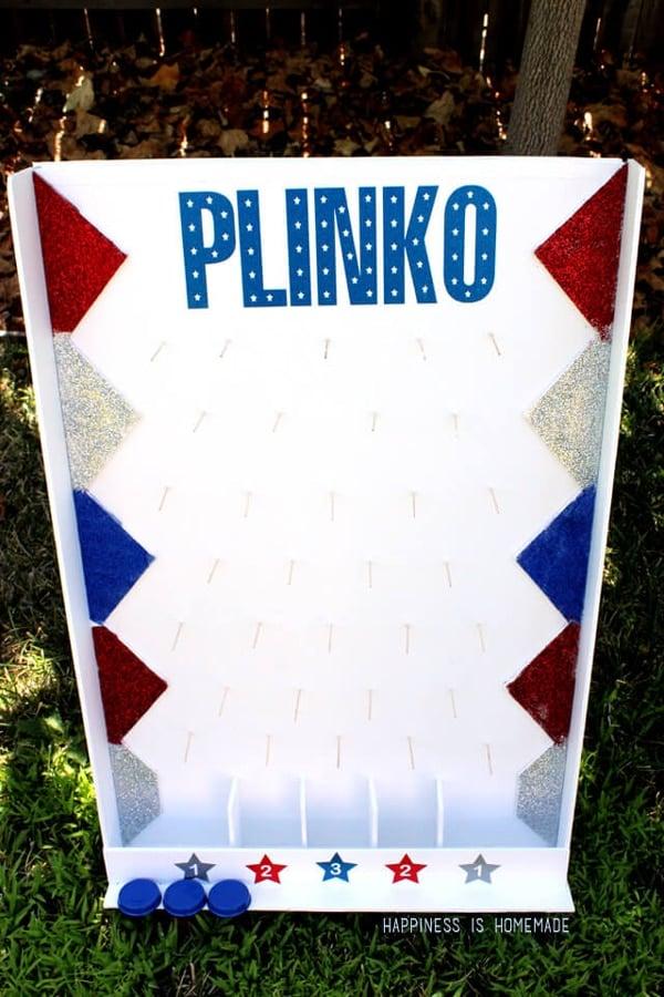 DIY Backyard Plinko Game | Labor Day Party Ideas