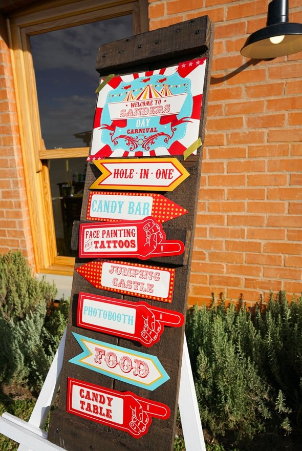 Carnival Party Sign | Carnival Party Ideas