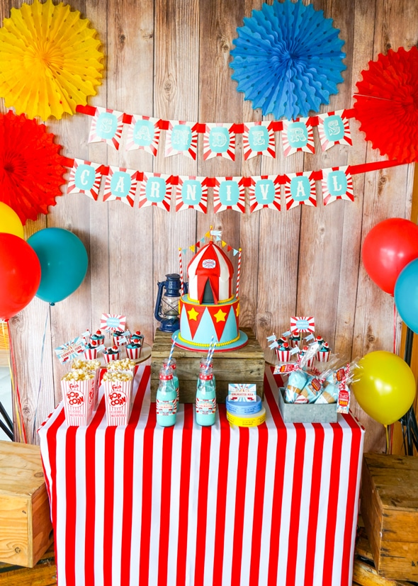 Carnival Party Cake Table | Carnival Theme Party