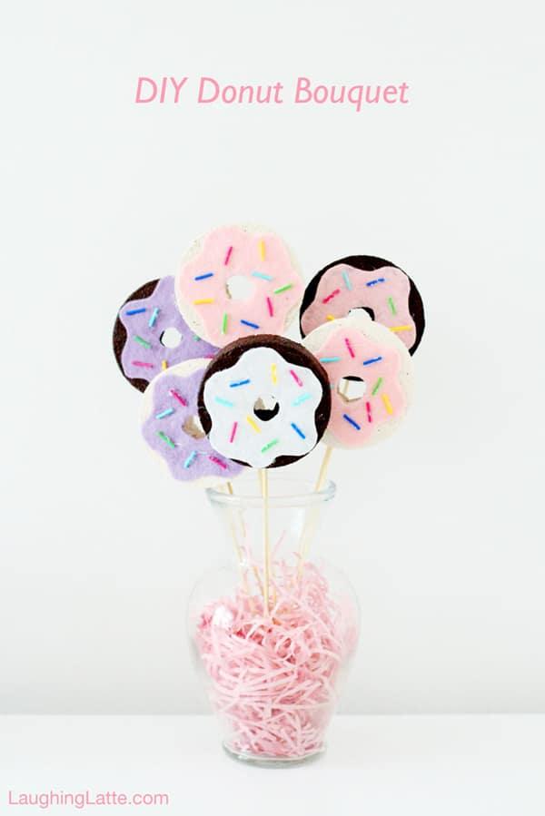 DIY Donut Bouquet | Donut Themed Party Ideas