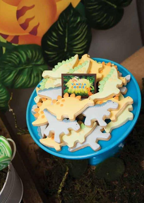 Dinosaur Cookies | Dinosaur Birthday Party Ideas