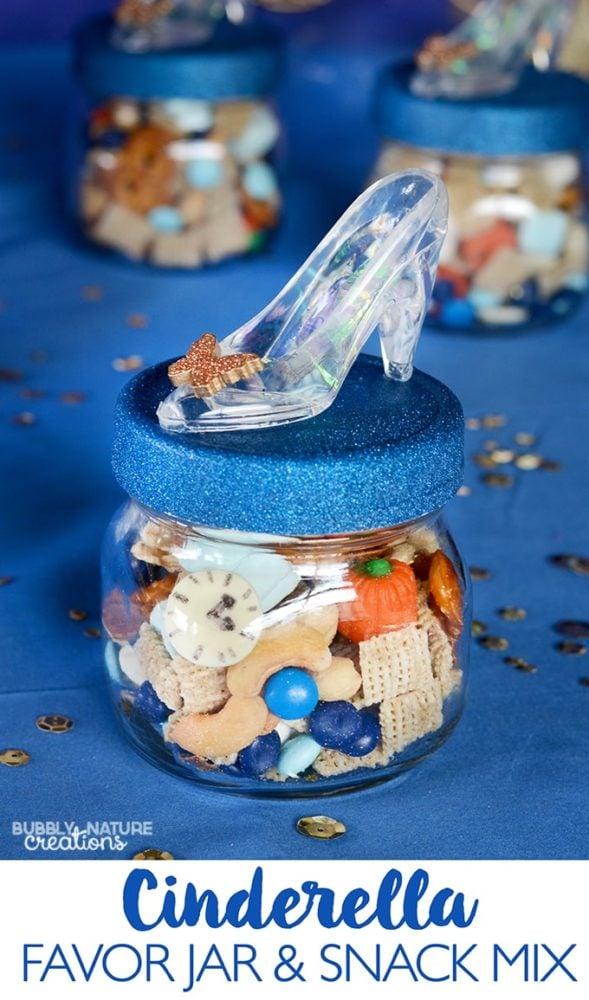 Cinderella Jar Snack Mix Idea | Cinderella Party Ideas