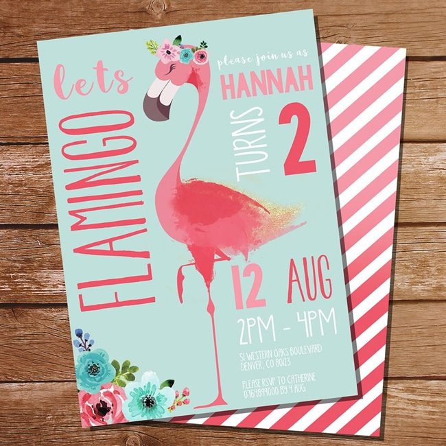 Flamingo Party Invitation