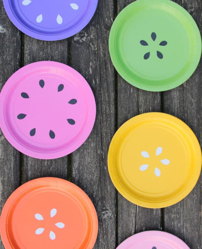 DIY Fruit Inspired Plates | Tutti Frutti Party Ideas