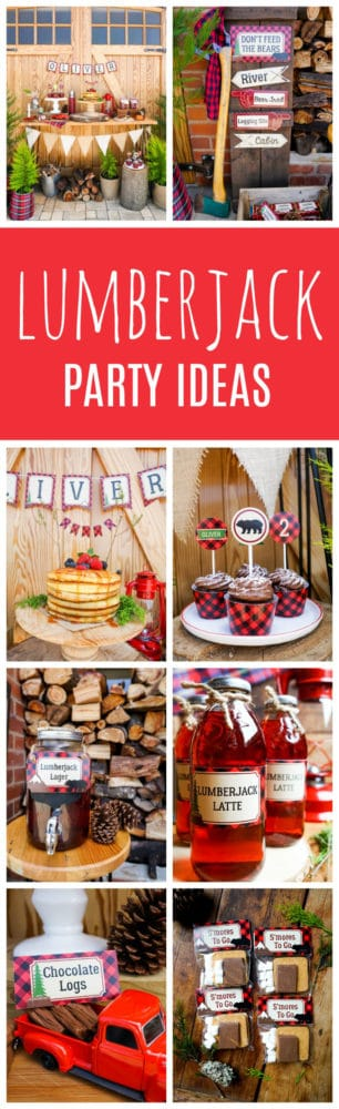Creative Lumberjack Birthday Party featured on Pretty My Party