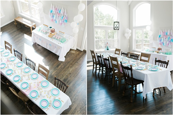 Mermaid Birthday Party Table Design