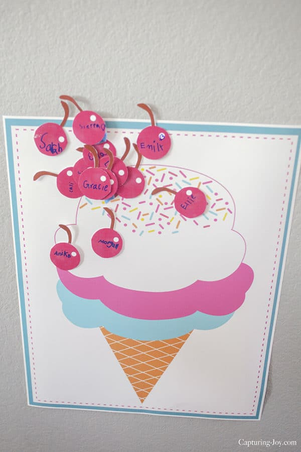 Pin the Cherry on the Ice Cream | Ice Cream Party Games