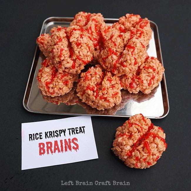 Rice Krispie Brains | Mad Scientist Party Ideas