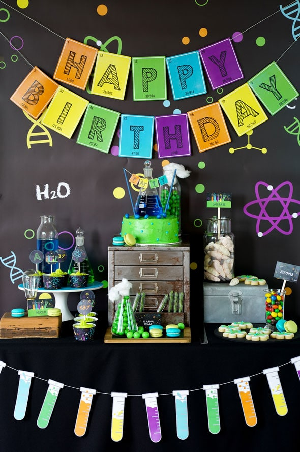Science Party Dessert Table | Mad Scientist Party Ideas