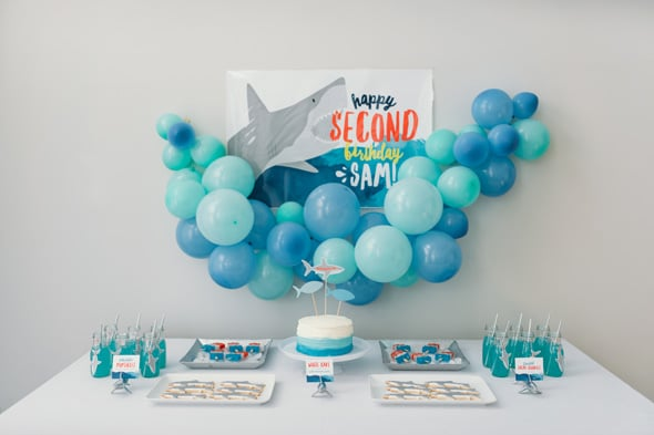 Jawsome Shark Themed Birthday Party