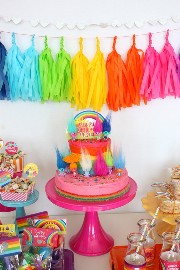 Magical Trolls Party Cake