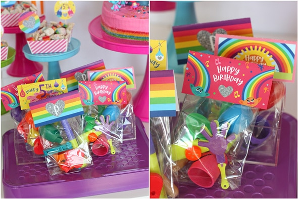 Trolls Birthday Party Favors