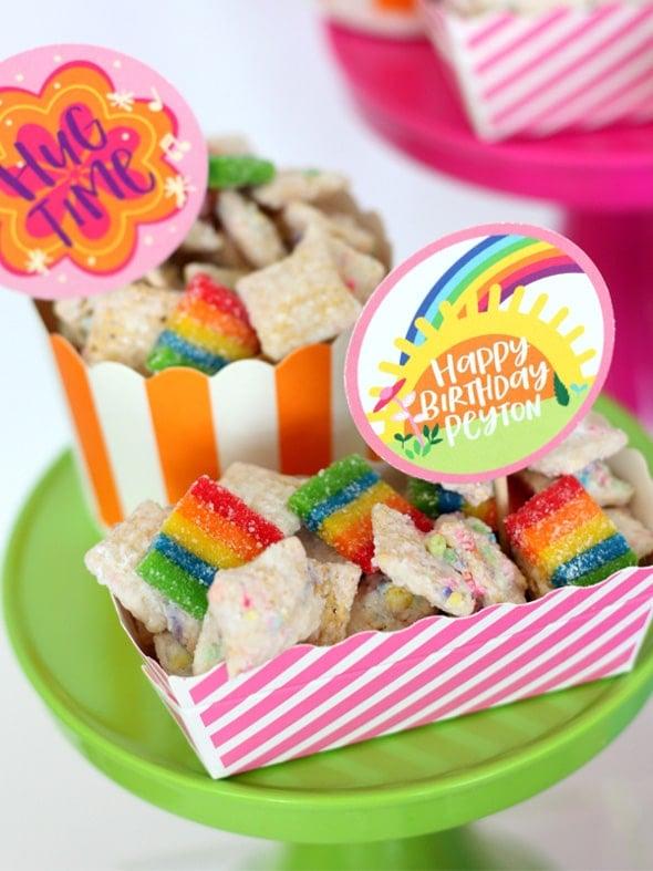 Trolls Party Rainbow Chow
