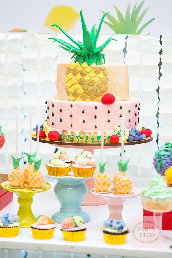 Tutti Frutti Birthday Cake | Tutti Frutti Party Ideas