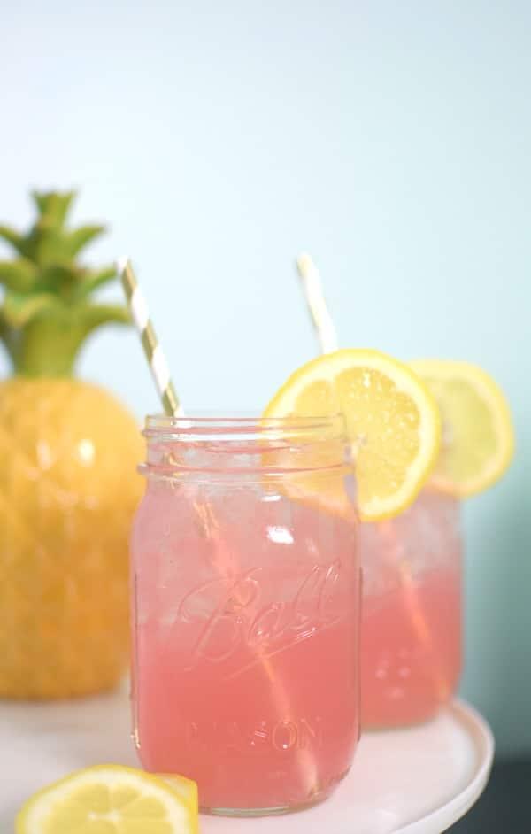Easy Boozy Pink Lemonade | Labor Day Party Ideas