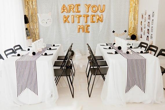 Cat Birthday Tables