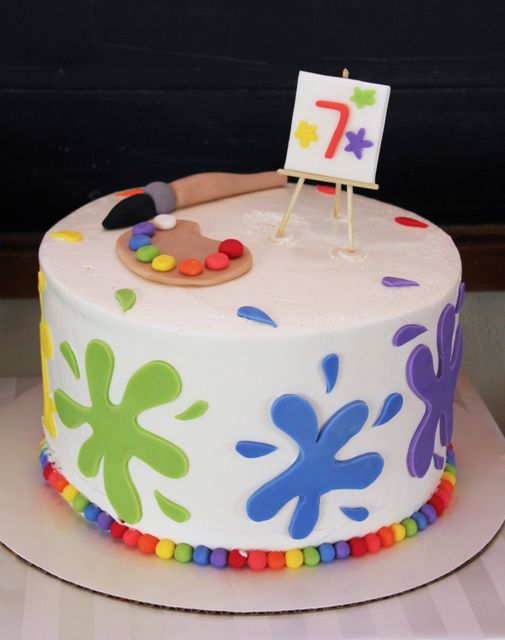 Local Cake Artist : 23 Creative Art Themed Party Ideas - Pretty My Party