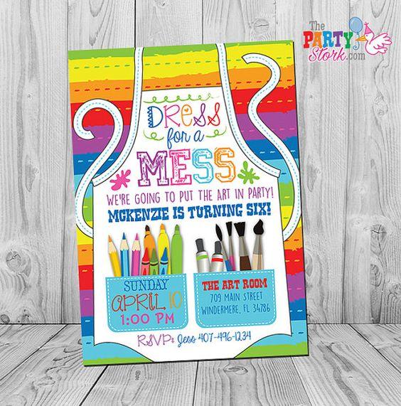 Art Party Invitation | Art Themed Party Ideas