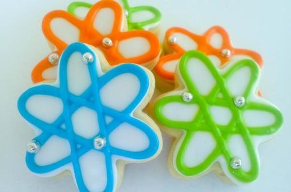 Atom Cookies | Mad Scientist Party Ideas